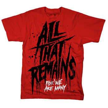 All That Remains - Nightmare on Red - T-shirts