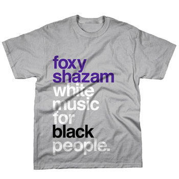 Foxy Shazam - White Music on Silver - T-shirts