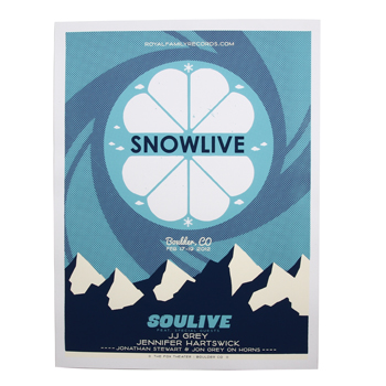 Royal Family - Snowlive Boulder, CO Screen Printed Poster - Posters