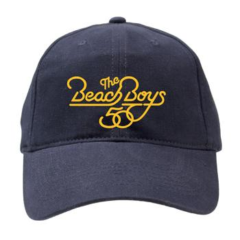 The Beach Boys - Beach Boys 50th Yellow Print Hat on Navy - Hats