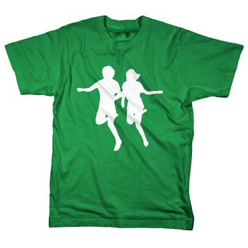 Rival Schools - Running Logo on Kelly Green - T-shirts