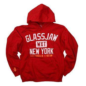 Glassjaw - WXT GJNY Block Pullover on Red - Sweatshirts