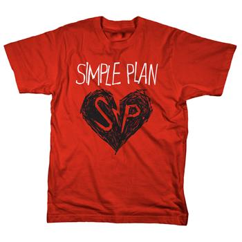 Simple Plan - Heart Drawing - T-shirts
