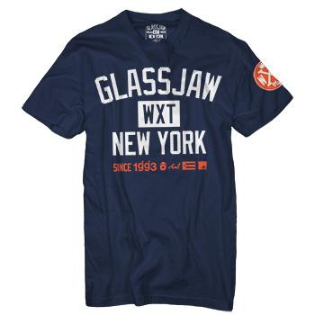 Glassjaw - WXT GJNY Block T-Shirt on Navy - T-shirts