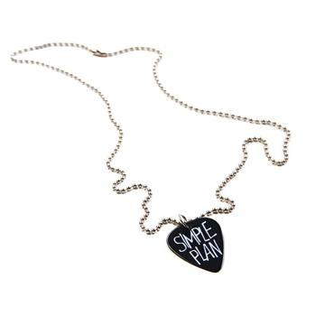 Simple Plan - Simple Plan - Logo Guitar Pick Necklace - Accessories