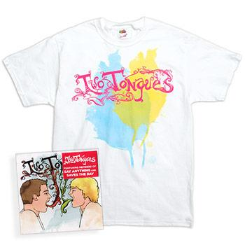 Two Tongues - Self Titled Album and Limited Edition T-Shirt Bundle - CDs