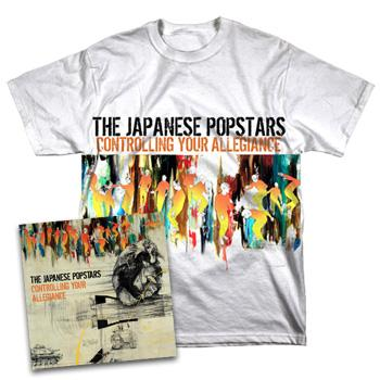 Japanese Popstars - Controlling Your Allegiance CD / Tee Combo - Combos