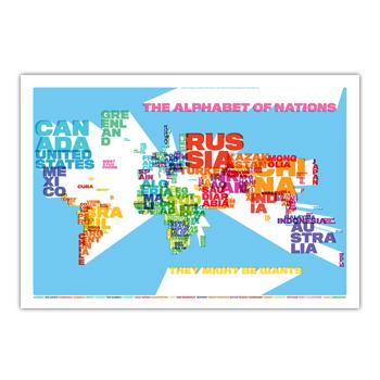 They Might Be Giants - Alphabet of Nations Poster - Posters