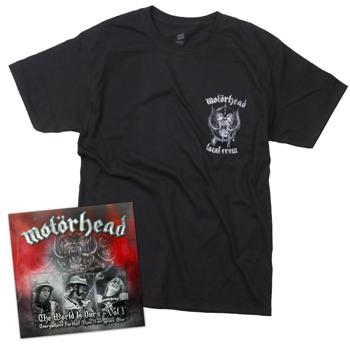 Motorhead - The World Is Ours 2xCD/DVD/T-Shirt Bundle - Combos