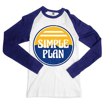 Simple Plan - Beach 3/4 Tee on White - T-shirts
