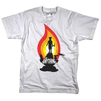 Say Anything - Molotov on White Tee - T-shirts