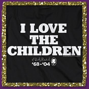 Ol Dirty Bastard - I Love The Children Tee on Black - T-shirts