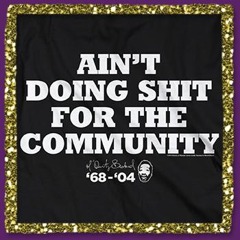 Ol Dirty Bastard - Ain't Doing Shit Tee on Black - T-shirts