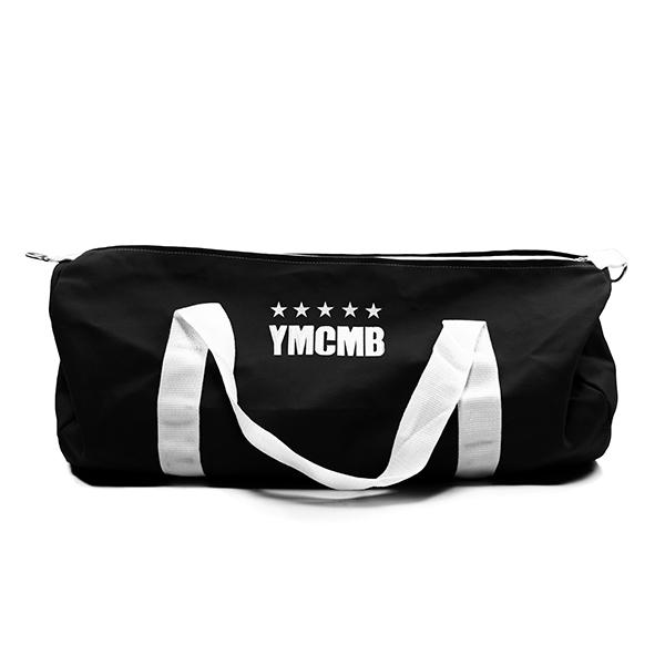 YMCMB - 5 Star Embroidered Large Black Duffle Bag - Bags