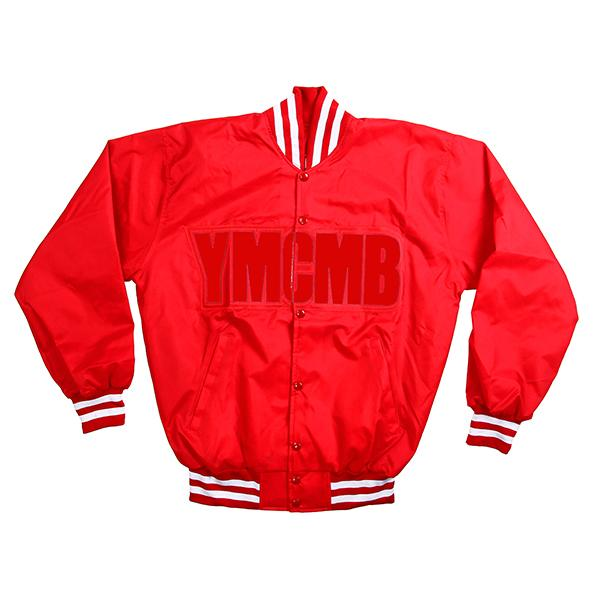YMCMB - Red on Red Baseball Jacket - Jackets