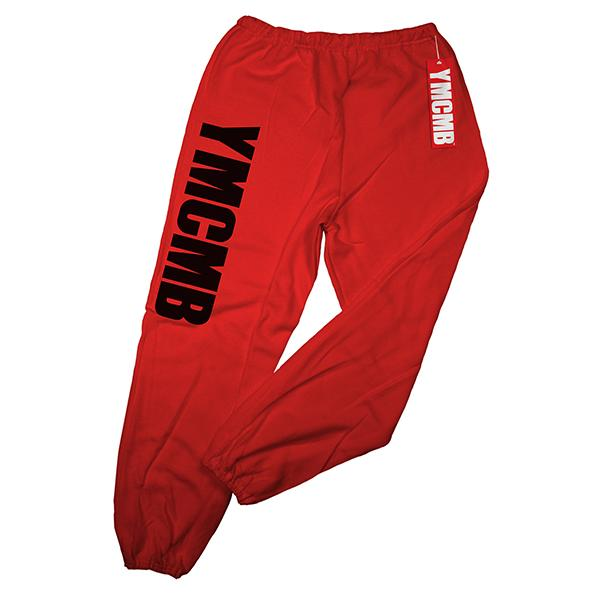 YMCMB - Black on Red - Sweatpants