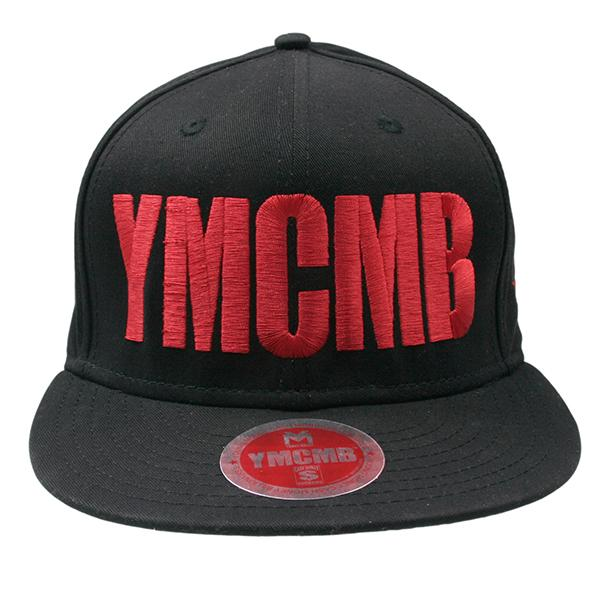 YMCMB - Snapback Red on Black - Hats