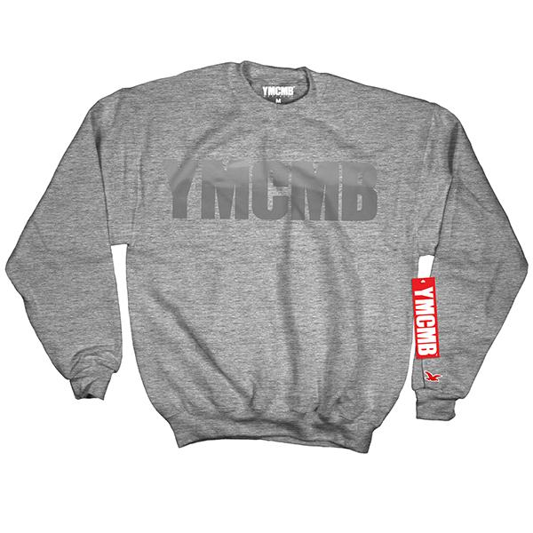 YMCMB - Crew Grey on Grey - Sweatshirts