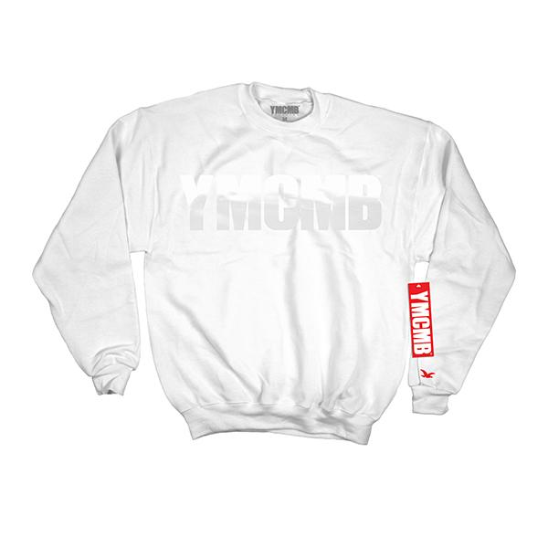 YMCMB - Crew White on White - Sweatshirts