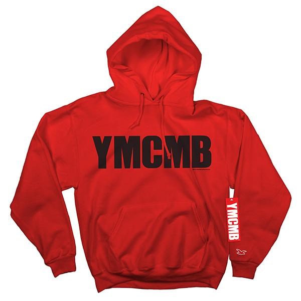 YMCMB - Pullover Black on Red - Sweatshirts