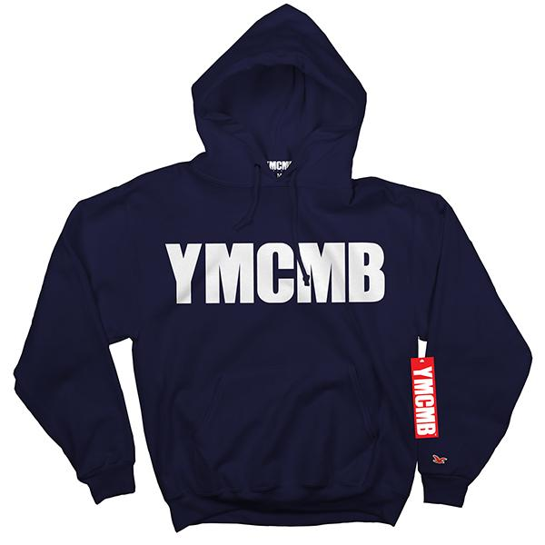 YMCMB - Pullover White on Navy - Sweatshirts