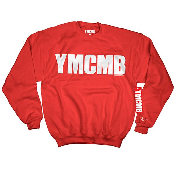 YMCMB - Crew White on Red - Sweatshirts