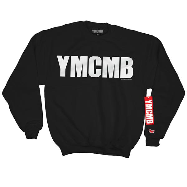 YMCMB - Crew White on Black - Sweatshirts