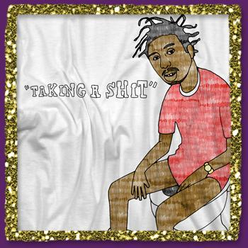 Ol Dirty Bastard - Taking A Shit on White - T-shirts
