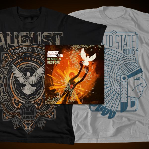 August Burns Red - Rescue & Restore CD + 2 T Shirts - Combos