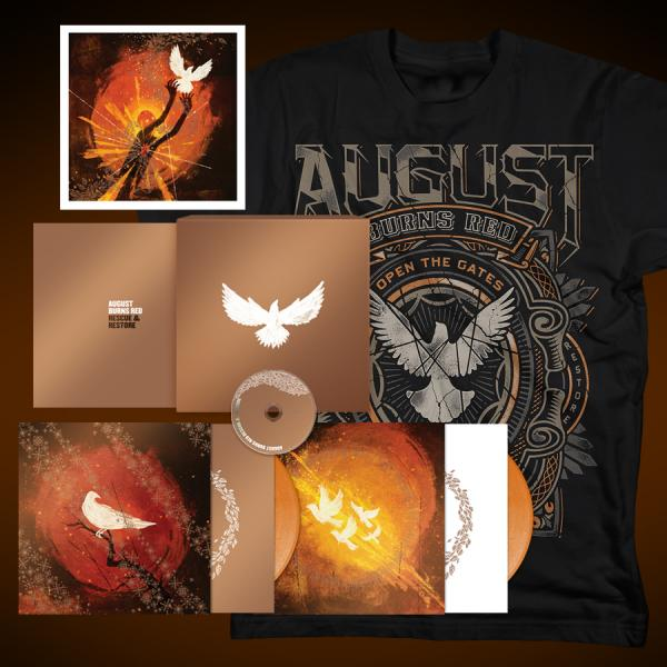 August Burns Red - Exclusive T Shirt + Vinyl Box Set Rescue & Restore - Combos