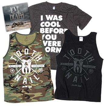 Tooth and Nail - Love & Death + Camo + Crest + Old School - Deals of the Month
