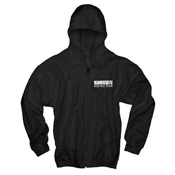 Mike Doughty - Eye Tour Zip Up on Black - Sweatshirts