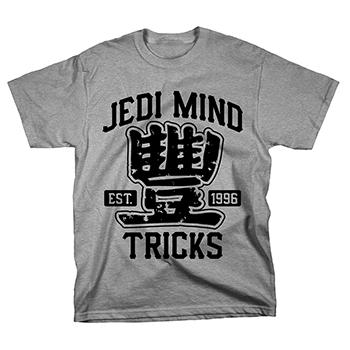 Jedi Mind Tricks - Athletic Black on Heather Grey - T-shirts