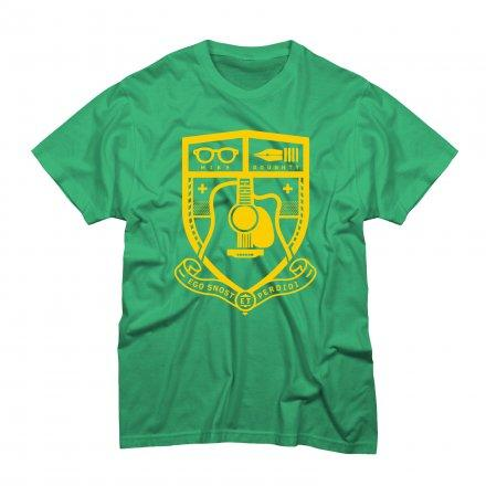 Mike Doughty - Coat of Arms on Kelly T-Shirt - T-shirts