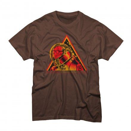 Mike Doughty - Spaceman on Brown T-Shirt - T-shirts