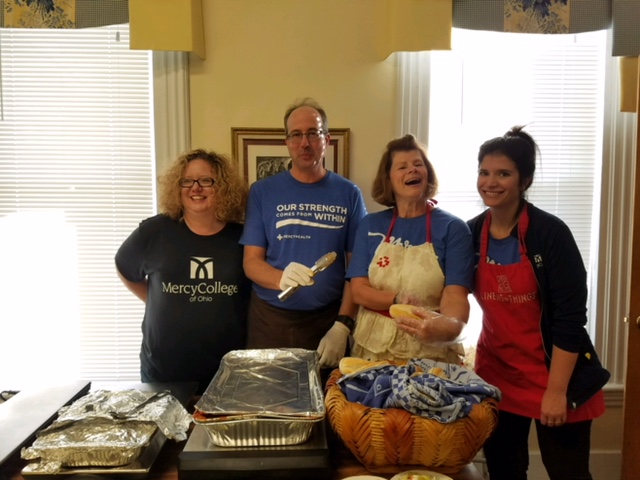 Image of Mercy College faculty and staff participating in October 2017 day of service