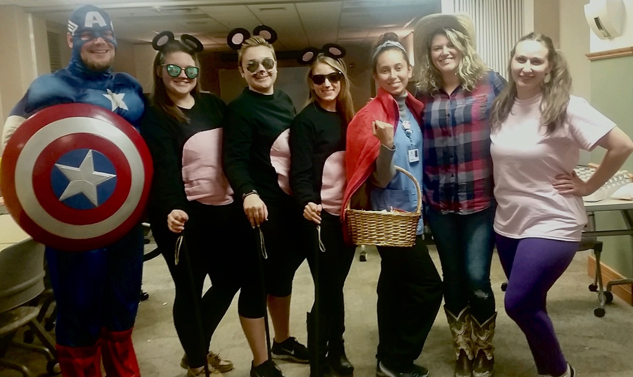 Image of Mercy College Staff Members at Halloween Howl 2017