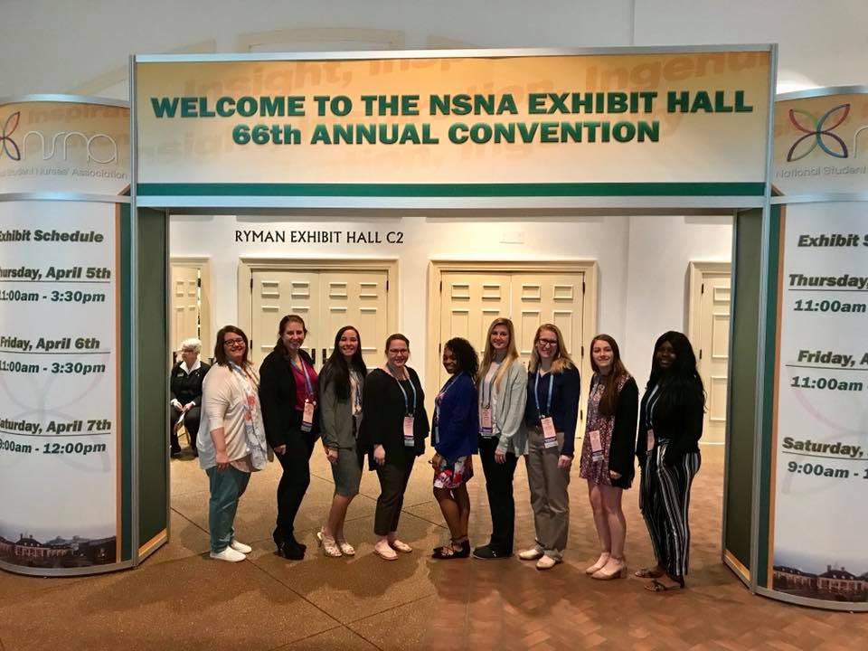 Image of Mercy College students (unidentified) at NSNA Convention Hall