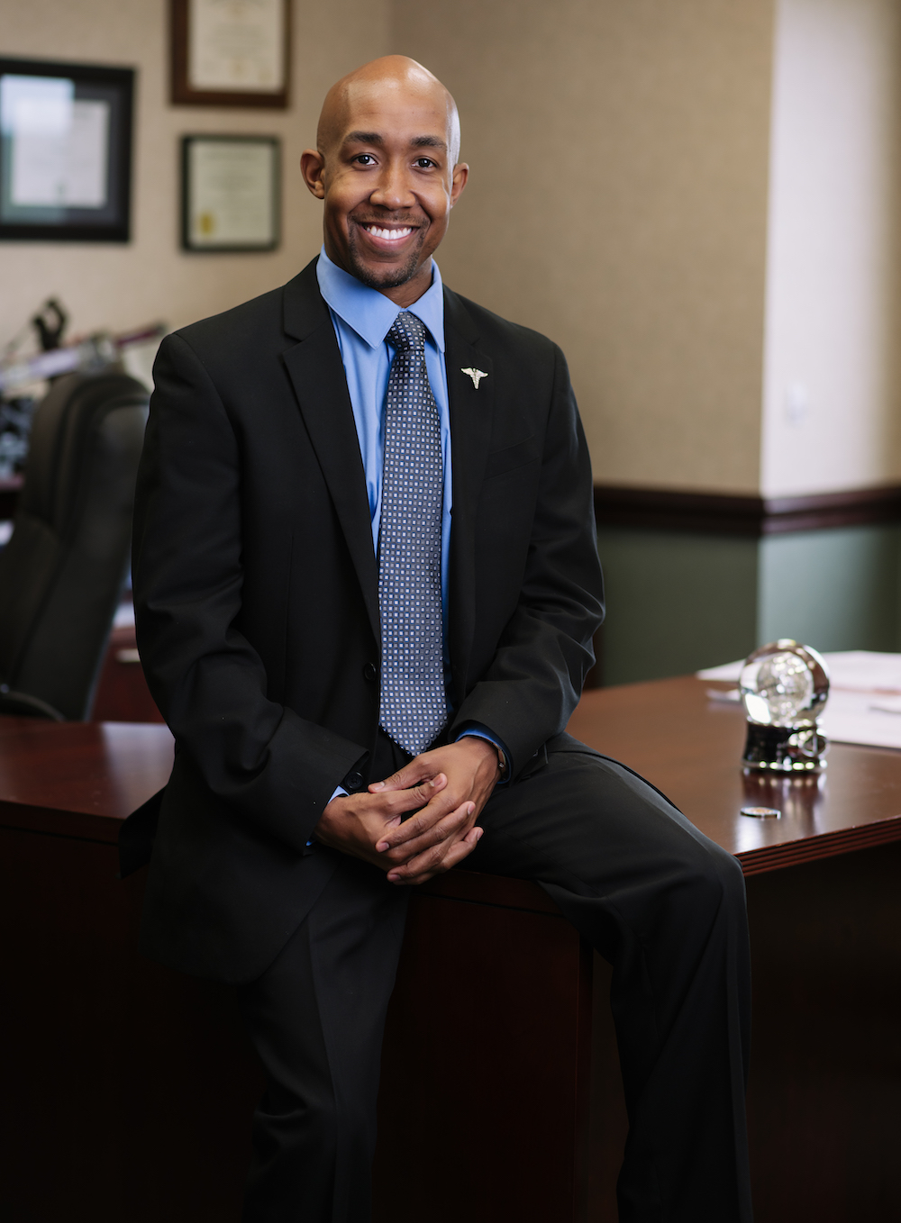 Image of Dr. Trevor Bates in His Office