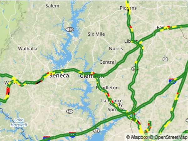 Downtown Greenville Traffic Map & Incidents | foxcarolina com