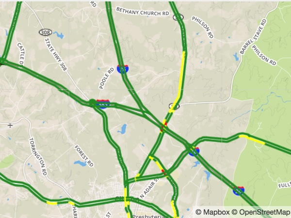 Asheville, NC Traffic Map & Incidents | foxcarolina.com