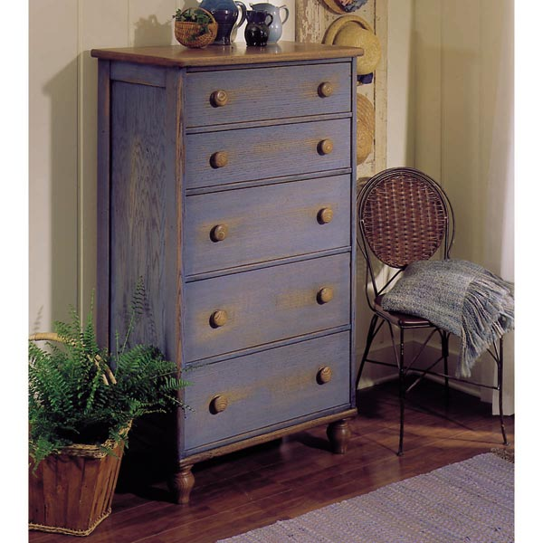 Country-Fresh Five-Drawer Chest Woodworking Plan, Furniture Beds & Bedroom Sets