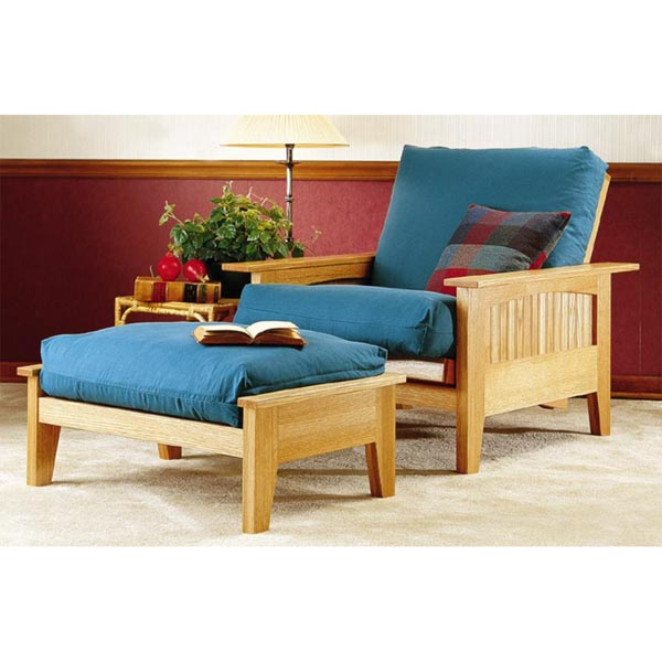 Futon Chair and Ottoman Woodworking Plan, Furniture Seating Furniture Beds & Bedroom Sets