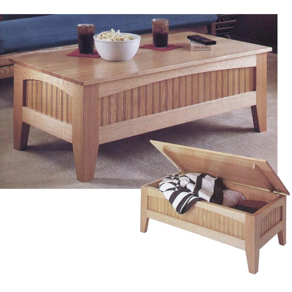 Fantastic Mission Futon Suite: Storage Coffee Table