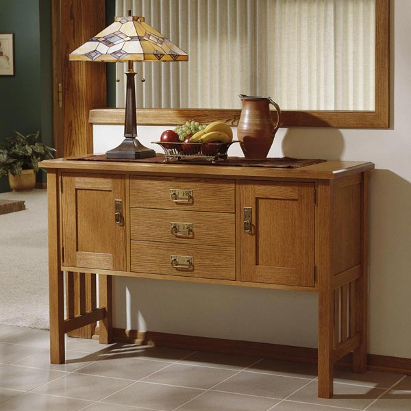 Arts and crafts buffet woodworking plan from wood magazine