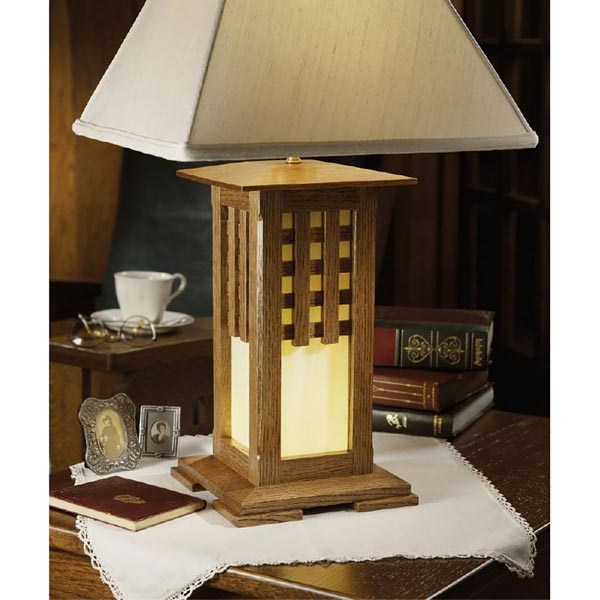 Arts and Crafts Lamp with Lantern Base