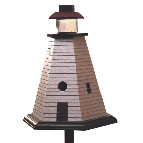 Lighthouse Birdhouse Woodworking Plan, Outdoor For Birds & Pets