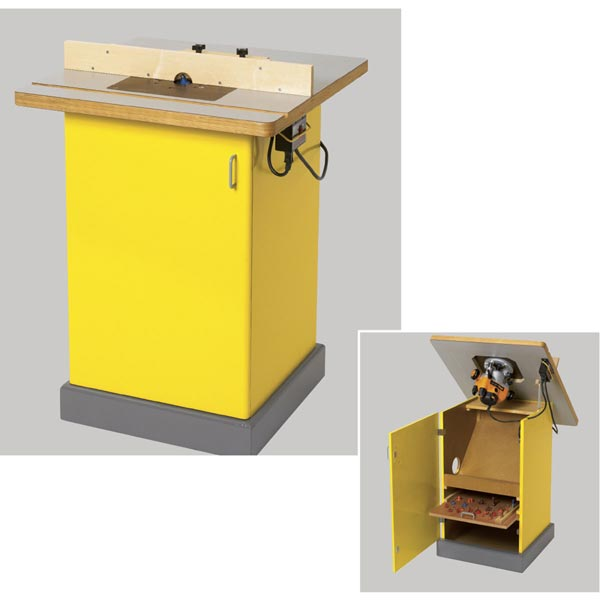 Tilt-Top Router Table Woodworking Plan, Workshop & Jigs Tool Bases & Stands