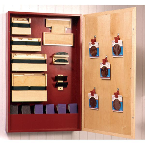 Sanding-Supply Cabinet Woodworking Plan, Workshop & Jigs Shop Cabinets, Storage, & Organizers