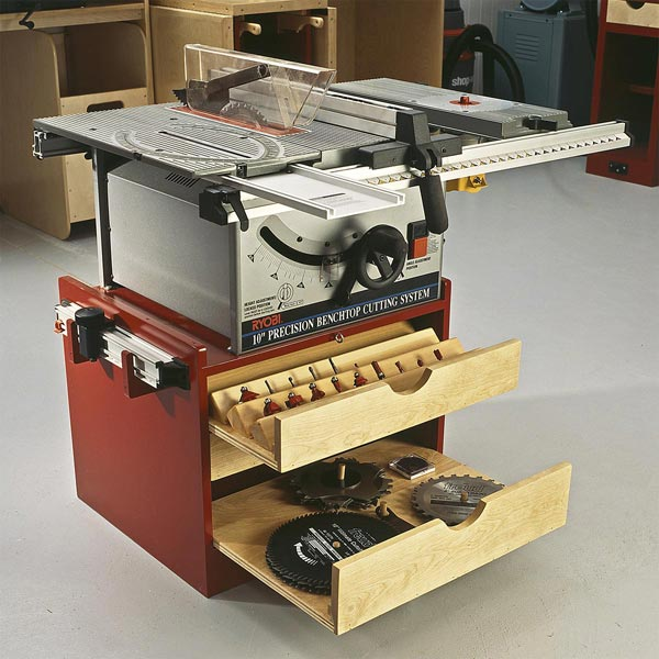 Mobile Tablesaw Base